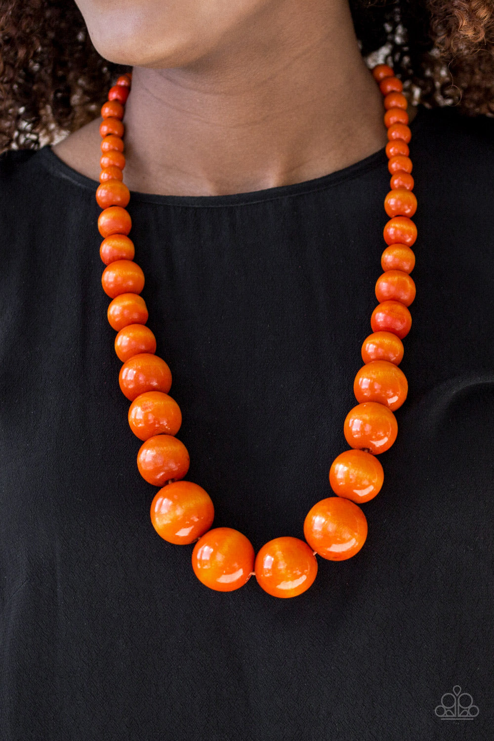 Effortlessly Everglades - orange - Paparazzi necklace