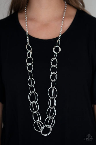 Elegantly Ensnared - silver - Paparazzi necklace