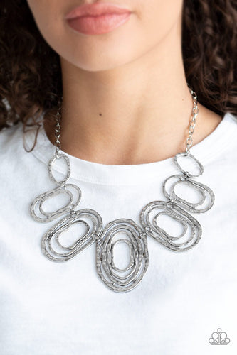 Empress Impressions-silver-Paparazzi necklace