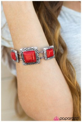 Enchanted Desert - Red - Paparazzi bracelet