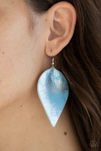 Enchanted Shimmer-blue-Paparazzi earrings