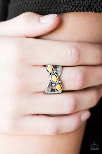 Endless Deserts - yellow - Paparazzi ring