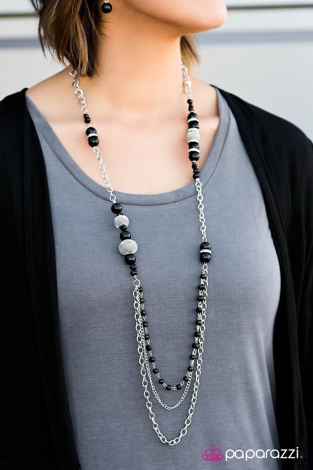 Enmeshed In Elegance - Black - Paparazzi necklace