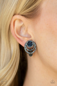 Epic Epicenter-blue-Paparazzi CLIP ON earrings