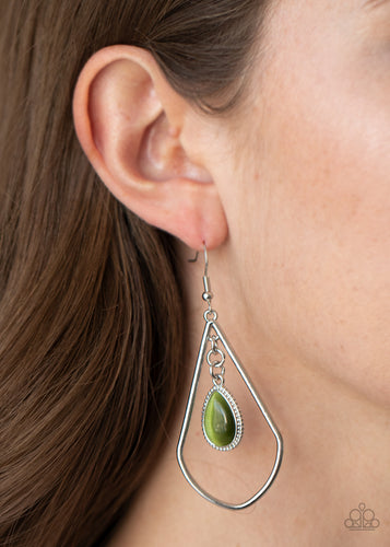 Ethereal Elegance - green - Paparazzi earrings