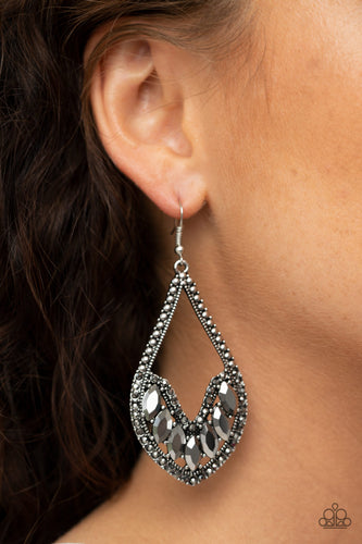 Ethereal Expressions - silver - Paparazzi earrings