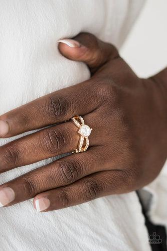 Ever Elegant-gold-Paparazzi ring