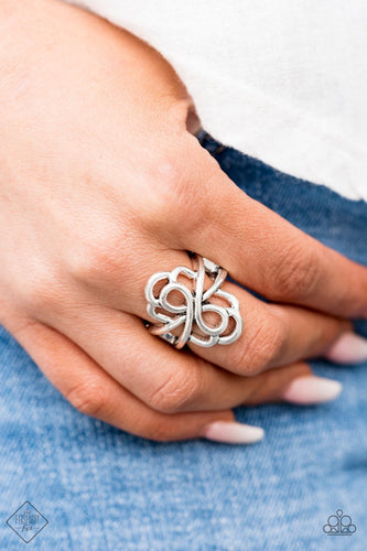 Ever Entwined - silver - Paparazzi ring