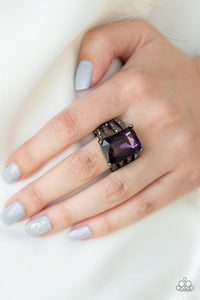 Expect Heavy REIGN-purple-Paparazzi ring