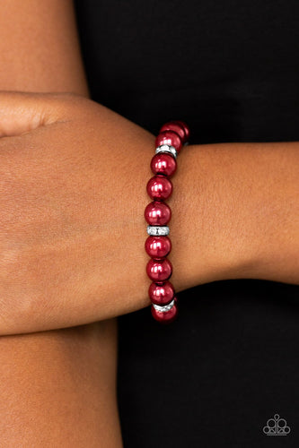 Exquisitely Elite - red - Paparazzi bracelet