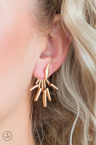 Extra Electric - gold - Paparazzi earrings