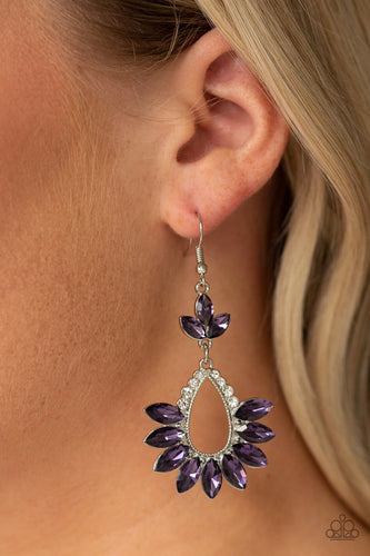 Extra Exquisite-purple-Paparazzi earrings