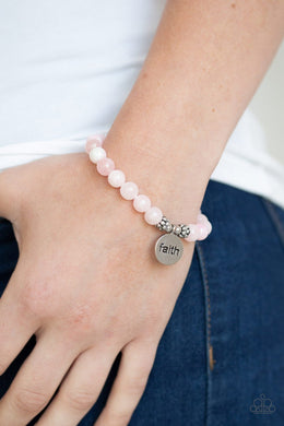 FAITH It Till You Make It - pink - Paparazzi bracelet