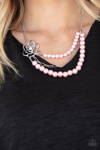 Fabulously Floral-pink-Paparazzi necklace