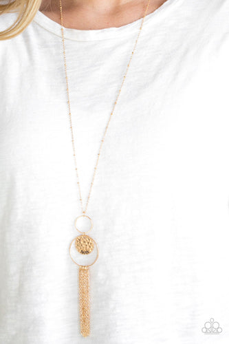 Fath Makes All Things Possible - gold - Paparazzi necklace