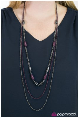 Fashion Forward - Purple - Paparazzi necklace