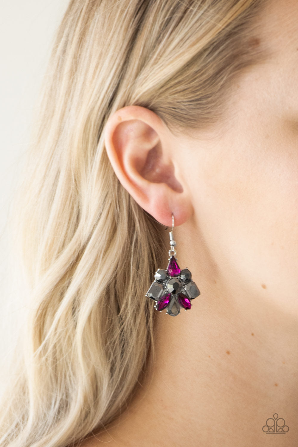 Fiercely Famous - multi - Paparazzi earrings