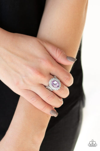 Fiercely Flawless-purple-Paparazzi ring