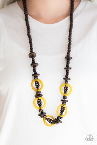 Fiji Foxtrot - yellow - Paparazzi necklace