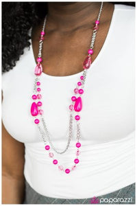 Finders Keepers - pink - Paparazzi necklace