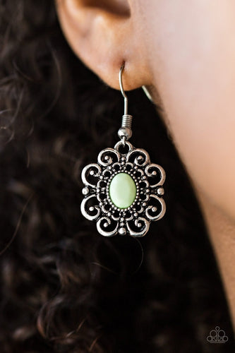 First and Foremost Flowers - green - Paparazzi earrings
