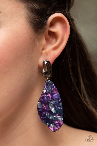 Fish Out of Water - purple - Paparazzi earrings