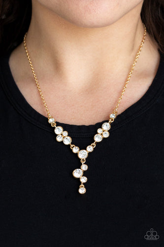 Five Star Starlet-gold-Paparazzi necklace