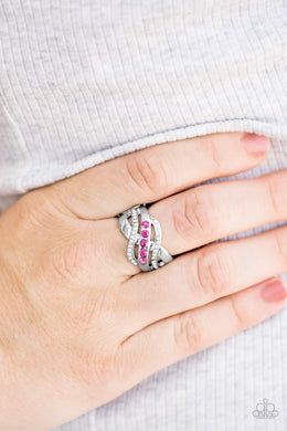 Flirting With Sparkle - pink - Paparazzi ring