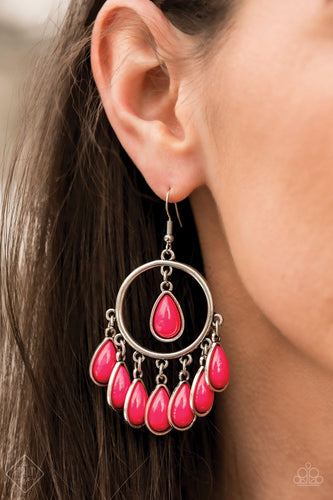 Flirty Flamboyance-pink-Paparazzi earrings