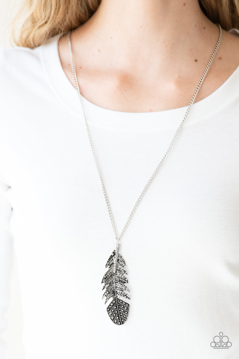 Free Bird - silver - Paparazzi necklace