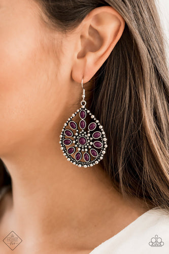 Free To Roam-purple-Paparazzi earrings