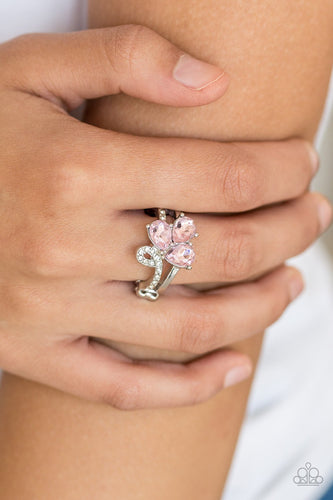 Friends in High End Places - pink - Paparazzi ring