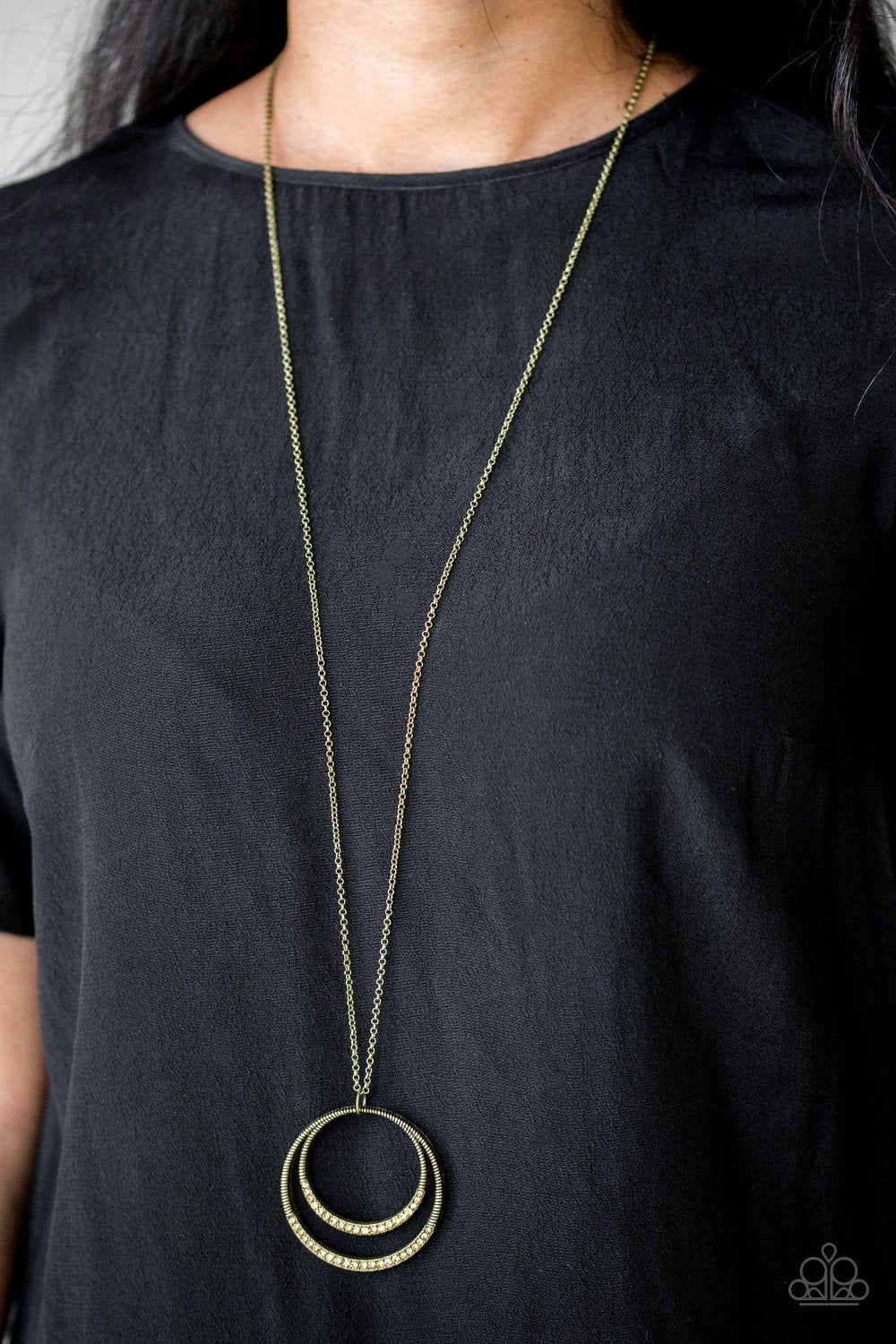 Front and Epicenter - brass - Paparazzi necklace