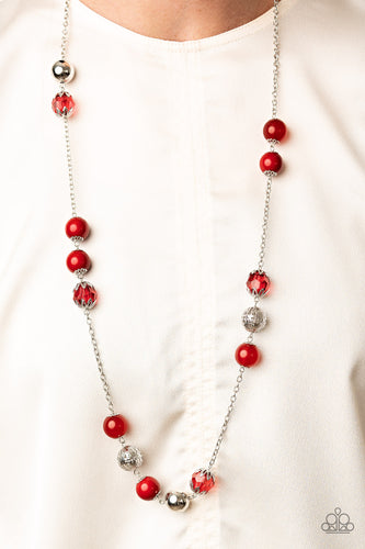 Fruity Fashion - red - Paparazzi necklace