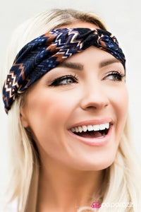 Full of Zest - Blue - Paparazzi headwrap