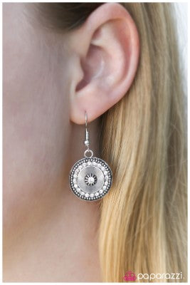 GLITTER Bug - White - Paparazzi earrings