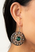 Load image into Gallery viewer, GLOW Your True Colors - green - Paparazzi earrings