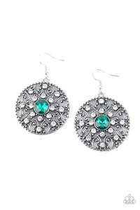 GLOW Your True Colors - green - Paparazzi earrings