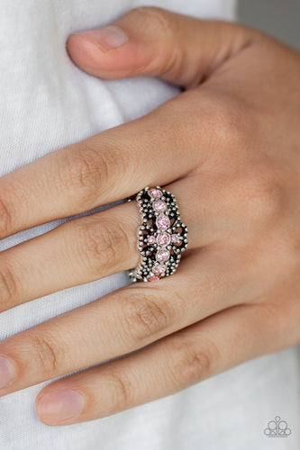 GLOW Your Mind-pink-Paparazzi ring