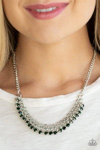 GLOW and Grind - green - Paparazzi necklace
