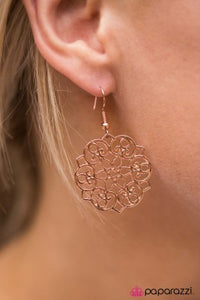 Garden Glam - copper - Paparazzi earrings