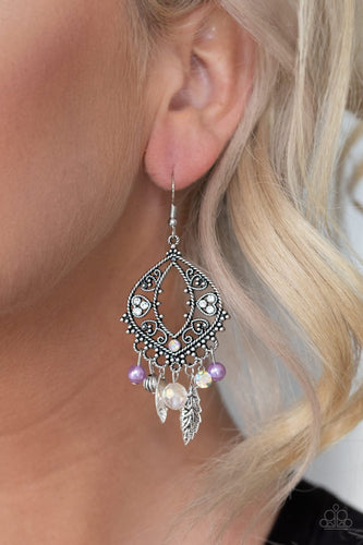 Garden Picnic-purple-Paparazzi earrings