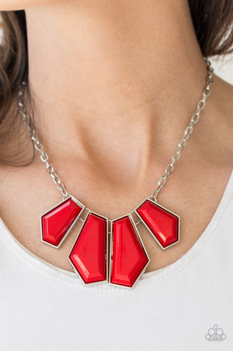 Get Up and GEO - red - Paparazzi necklace