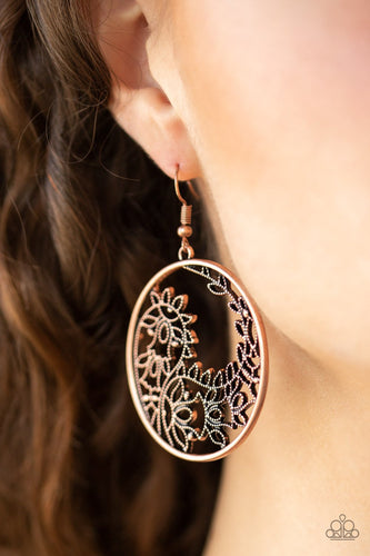 Get Into Vine-copper-Paparazzi earrings