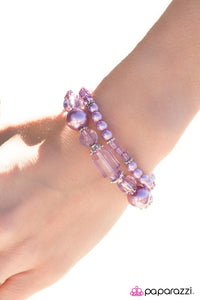 Glass Crowns - Purple - Paparazzi bracelet
