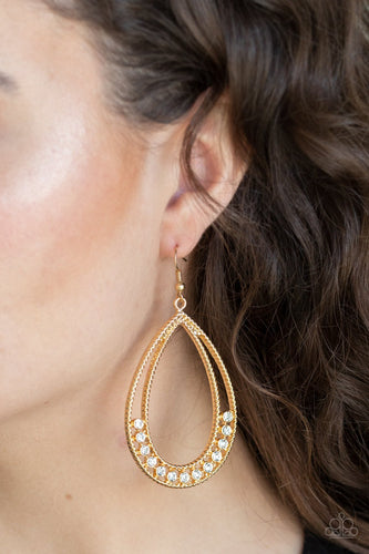 Glitz Fit-gold-Paparazzi earrings