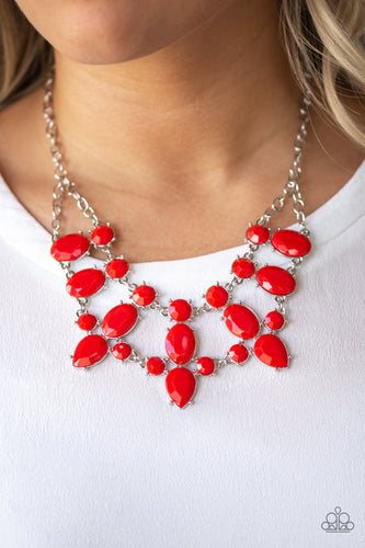 Goddess Glow-red-Paparazzi necklace