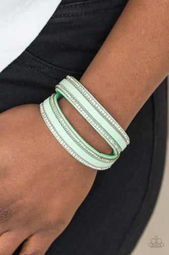 Going for Glam - green - Paparazzi bracelet