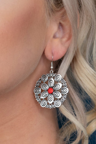 Grove Groove-red-Paparazzi earrings
