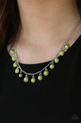 Gypsy Glow - green - Paparazzi necklace